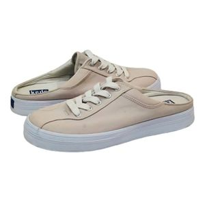Keds Cream Canvas Mules Sneakers, Size 8